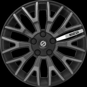 """Колпаки на колёса """"Sparco"""", серия """"Ultraleggera"""", R 13, набор 4 шт чёрн./карбон"""