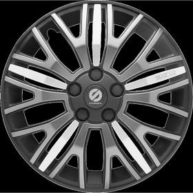 "Колпаки на колёса ""Sparco"", серия ""Xtraleggera"", R 13, набор 4 шт чёрн./сер./серебро"