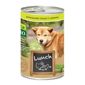 Влажный корм VitaPro LUNCH для собак, птица/цукини, ж/б, 400 г