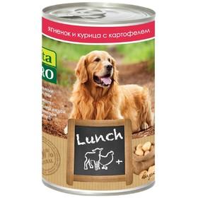 Влажный корм VitaPro LUNCH для собак, ягненок/курица/картофель, ж/б, 400 г