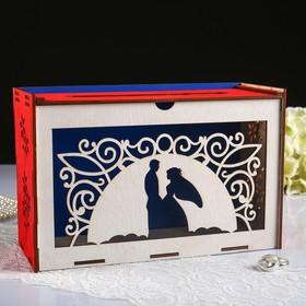 """Коробка для денег """"На закате"""", фанера, 24х10х16 см, розовый"""