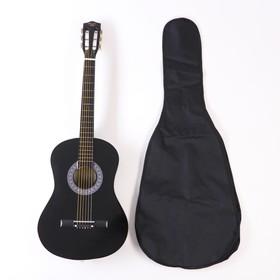 Набор для начинающего гитариста, чёрный: классическая гитара, чехол, струны