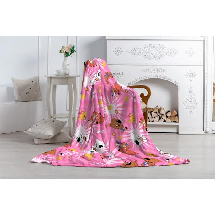 Плед Павлинка «МиМиМишки», размер 130х170 см, цвет розовый, аэрософт