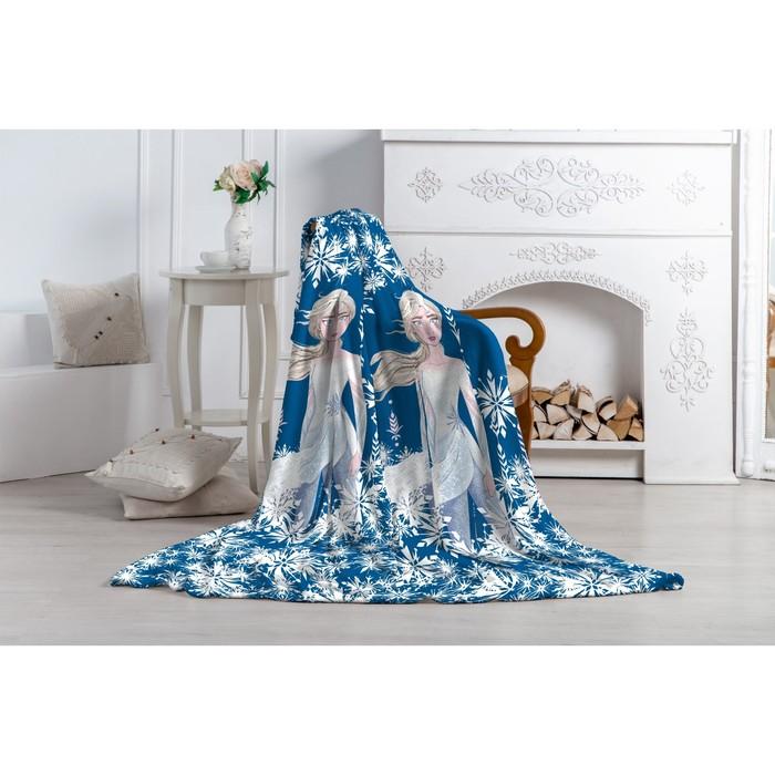 Плед Павлинка Холодное Сердце-2 Эльза 130х170 синий, аэрософт, 190г/м, пэ100%