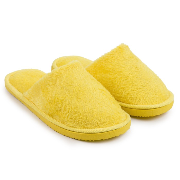 Тапочки женские цвет жёлтый, размер 36-37 (реальный размер 36-37)