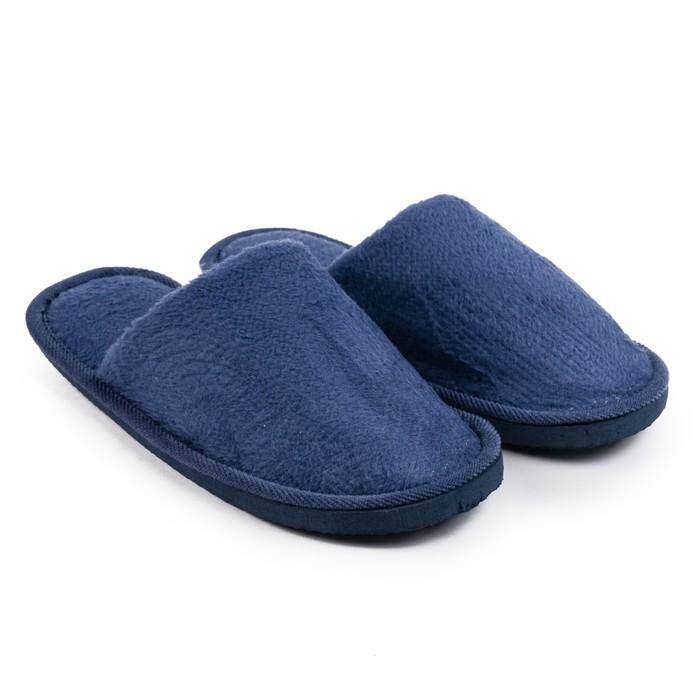 Тапочки мужские, цвет синий, размер 41-42 (реальный размер 39-40)