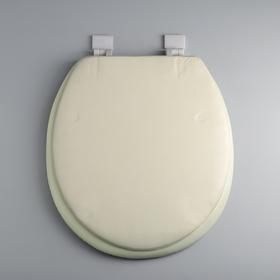 Сиденье для унитаза с крышкой «Классика», 40×37 см, цвет бежевый