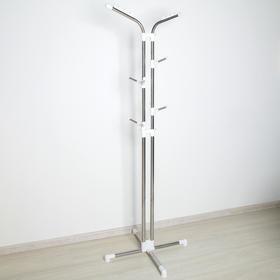 Вешалка-стойка 60×60×120 см, цвет хром