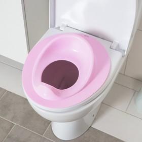 Накладка на унитаз, цвет розовый