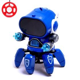Робот радиоуправляемый «Осьминожик», световые эффекты, работает от батареек, МИКС Ош