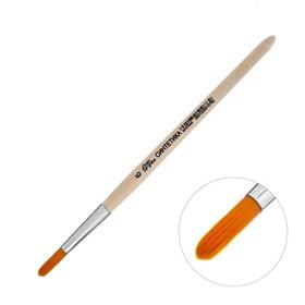 Кисть Синтетика Круглая № 6 (диаметр обоймы 6 мм; длина волоса 22 мм), деревянная ручка, Calligrata
