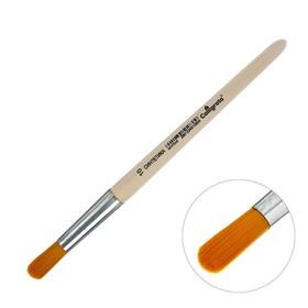Кисть Синтетика Круглая №10 (диаметр обоймы 10 мм; длина волоса 30 мм), деревянная ручка, Calligrata