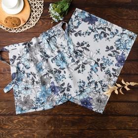 Подарочный набор Этель: фартук 65*45см+полотенце 45*60см с петелькой, рогожка, 100% хлопок