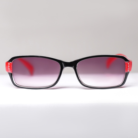 Glasses corrective 1320, color red and black, tinted +5,5