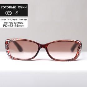 Glasses corrective FM 708 C146, color leopard print, toned, -5