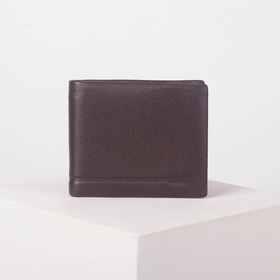 Портмоне мужское, 3 отдела, для купюр, для монет, цвет коричневый