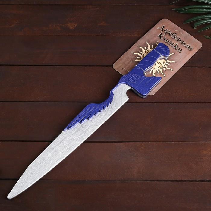 Деревянный клинок «Меч-крылья» 54 см - фото 105640462