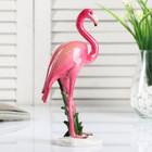 """Сувенир полистоун лак """"Розовый фламинго"""" 20х12,5х5,5 см"""