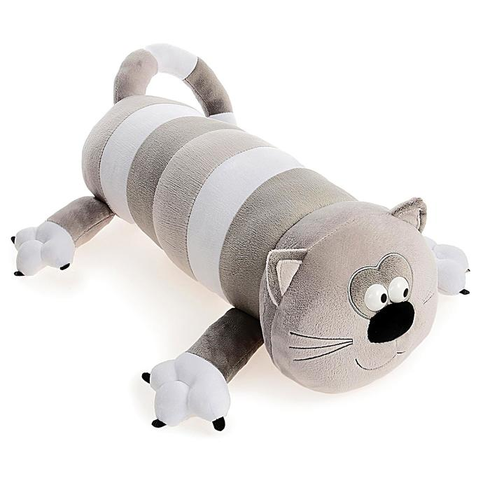 Мягкая игрушка «Кот-Батон», цвет серый, 56 см - фото 798365496