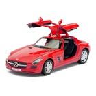Машина металлическая Mercedes-Benz SLS AMG, масштаб 1:36, открываются двери, инерция, цвет бордовый - фото 105651250