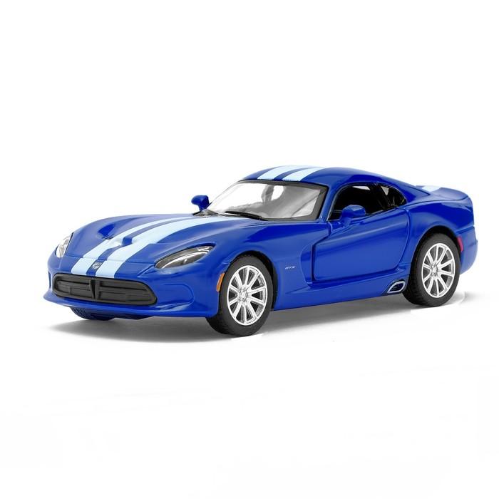 Машина металлическая SRT Viper GTS, масштаб 1:36, открываются двери, инерция, цвет синий - фото 105651252