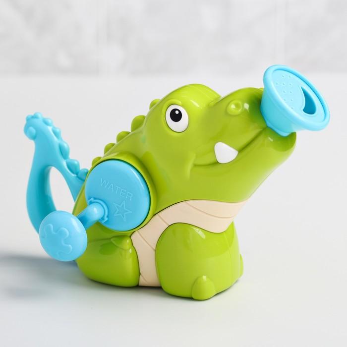 Игрушка для купания «Крокодильчик», брызгалка - фото 105534360