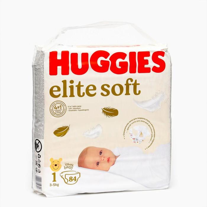 """Подгузники """"Huggies"""" Elite Soft 1, 3-5кг, 84 шт"""