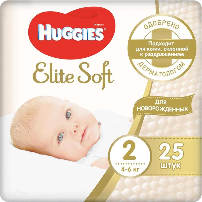 "Подгузники ""Huggies"" Elite Soft 2, 4-6кг, 25 шт"