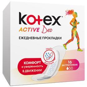 Kotex прокладки ежедневные Active, 16 шт