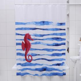 "Shower curtain 180×180 cm ""seahorse"", EVA"