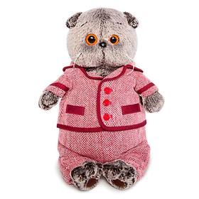 Мягкая игрушка «Басик в красном пиджаке и брюках в ёлочку», 19 см