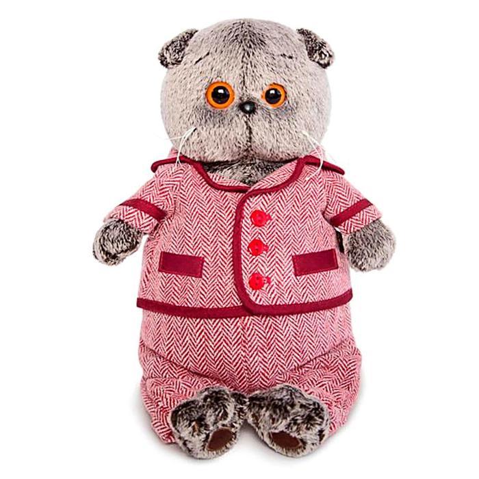 Мягкая игрушка «Басик в красном пиджаке и брюках в ёлочку», 19 см - фото 4467620