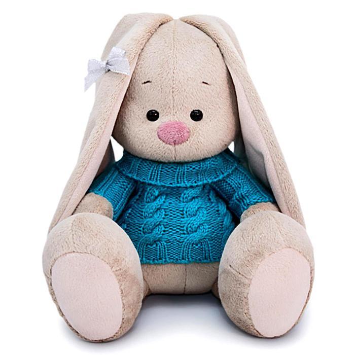 Мягкая игрушка «Зайка Ми в голубом свитере», 18 см - фото 4467625