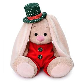 Мягкая игрушка «Зайка Ми в красном меховом комбинезоне», 15 см