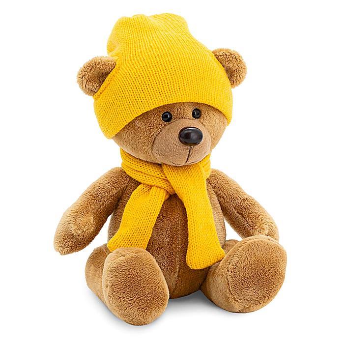 Мягкая игрушка «Медведь Топтыжкин» шапка, шарф, цвет коричневый 25 см - фото 4470541