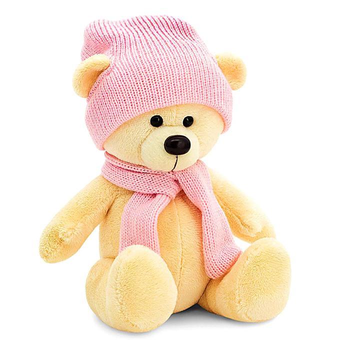 Мягкая игрушка «Медведь Топтыжкин» шапка, шарф, цвет жёлтый 25 см - фото 4470542