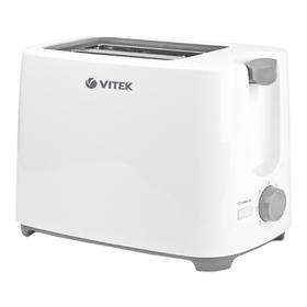 Тостер Vitek VT-1587 W, 700 Вт, 2 тоста, поддон для крошек, белый