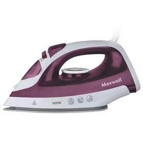 Утюг Maxwell MW-3041 VT, 1600 Вт, керамическая подошва, 40 г/мин, 360 мл, бело-фиолетовый