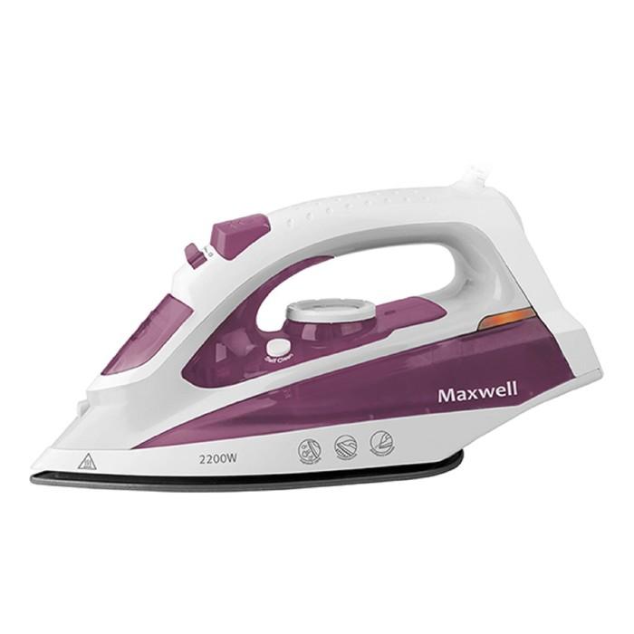 Утюг Maxwell MW-3058 VT, 2200 Вт, керамическая подошва, бело-фиолетовый