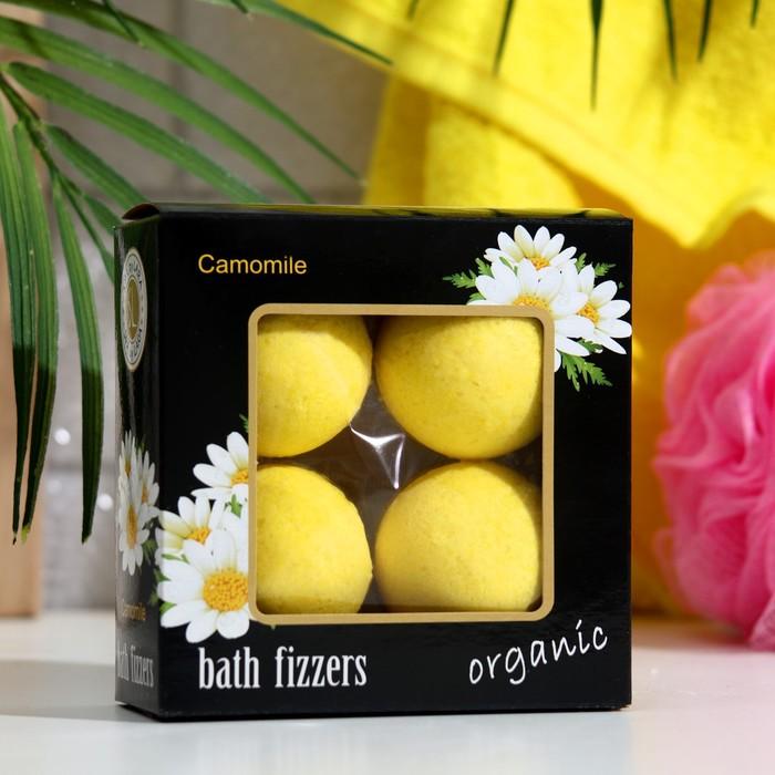 Набор бурлящих шаров Spa by Lara с экстрактом ромашки, 160 г (4 штуки по 40 г)