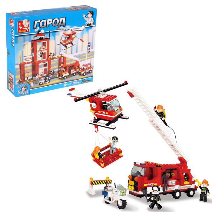 Конструктор «Пожарная станция», 631 деталь