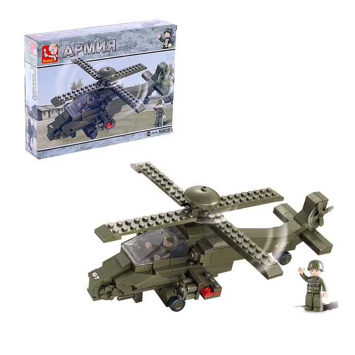 Конструктор «Вертолёт», 199 деталей