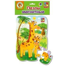 Магнитный пазл «Жирафик», 12 элементов
