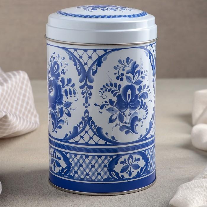 Банка для сыпучих продуктов «Русский узор», 10×14,5 см, 1,1 л