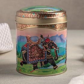 Банка для сыпучих продуктов «Индийский слон 2», 10×11 см, 0,8 л