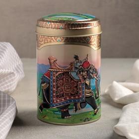 Банка для сыпучих Рязанская фабрика жестяной упаковки «Индийский слон», 1,1 л, круглая