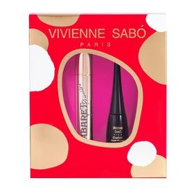 """Подарочный набор Vivienne Sabo (тушь """"Cabaret premiere"""" т. 01"""" + подводка """"Charbon"""" т.1)"""