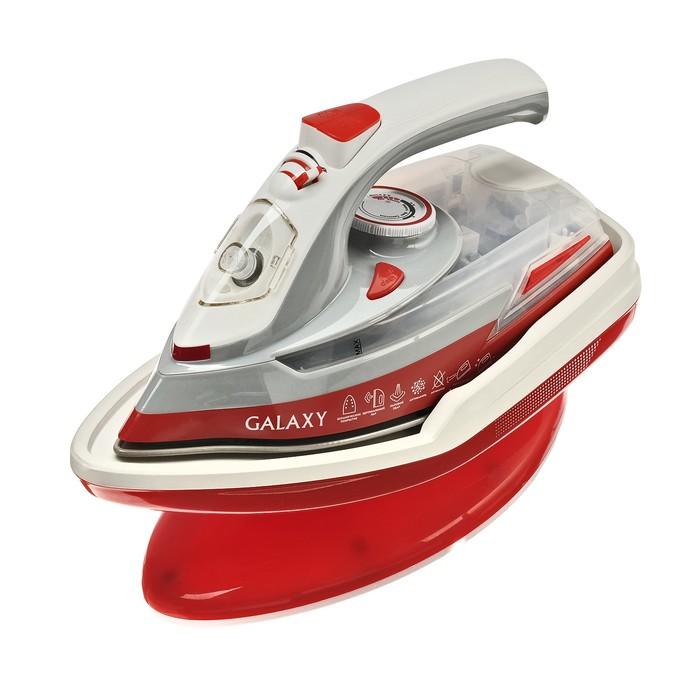 Утюг Galaxy GL 6150, 2200 Вт, керамическая подошва, самоочистка, верт. отпаривание, красный