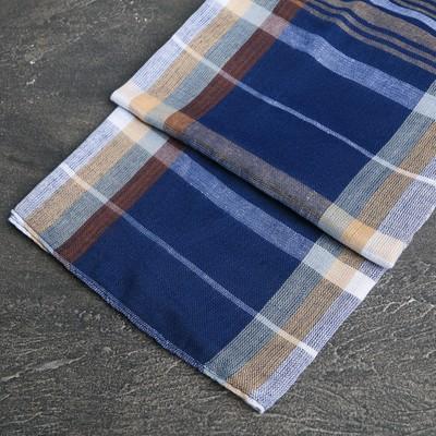 Scarf blue plaid 4640231