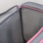 Сумка для фитнеса, отдел на молнии, наружный карман, отдел для обуви, длинный ремень, цвет голубой/розовый - фото 732392